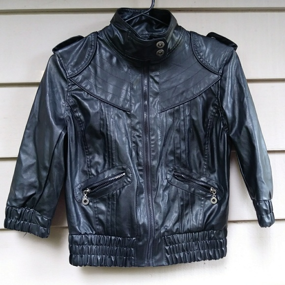 Paris Blues Jackets & Blazers - Paris Blues Vegan Leather moto jacket black